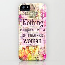 Louisa May Alcott WOMAN quote iPhone Case