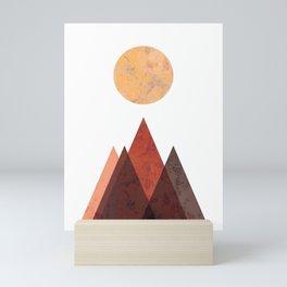 Terracotta Mid Century Mountain Print Mini Art Print