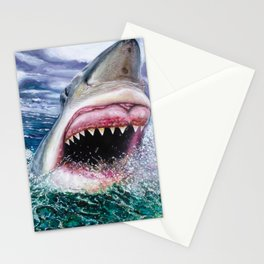 White Shark in Africa Stationery Cards