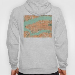 New York city map orange Hoody