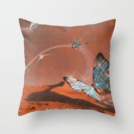 Butterfly World Throw Pillow