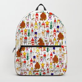 Fast Food Butts Mascots Backpack