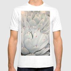 Succulent Blush MEDIUM White Mens Fitted Tee