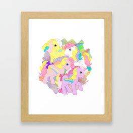 g1 my little pony rainbow curl ponies Framed Art Print