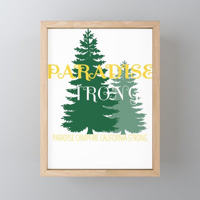 paradise camp fire california strong vintage shirt Framed Mini Art Print