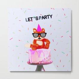 Let's Party Metal Print