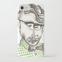 tom selleck iPhone & iPod Cases featuring Tom by Sadie Padial