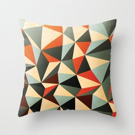 Colorful Abstract Diamond Pattern Throw Pillow