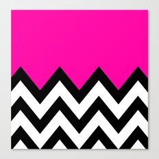 PINK COLORBLOCK CHEVRON Canvas Print