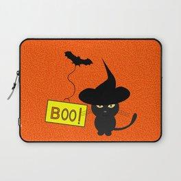 Cute cat on Halloween Laptop Sleeve