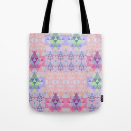 Abstract triangles. Patchwork pattern. Tote Bag