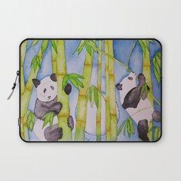 Playful Pandas by Moonlight Laptop Sleeve