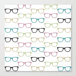 Colorful Funky Glasses Canvas Print