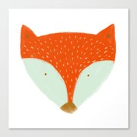 mr fox Canvas Prints featuring mr fox by Sweet Reverie