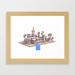 Waterfall Village Framed Art Print