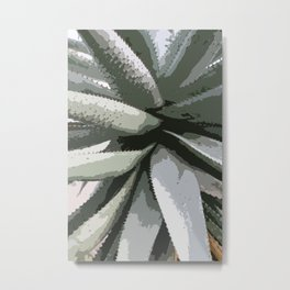Aloe Vera Details Abstract Metal Print