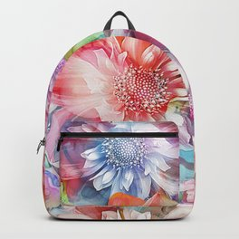 Spring Flowers on Painted Background Backpack