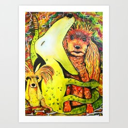 The Puppy Lair Art Print