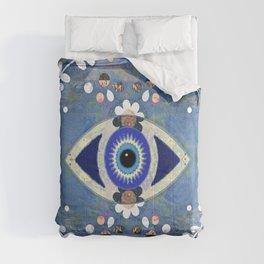 Evil Eye Protective Turkish Mandala Print Comforters