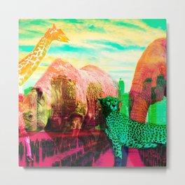 Urban Animals by Naoma Serna Metal Print