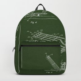 Guitar Patent - military green Backpack