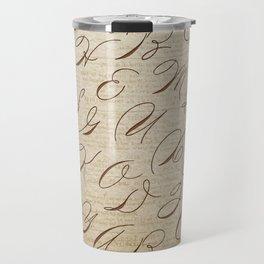 Calligraphitis Travel Mug