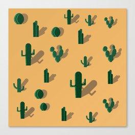 Pattern: Cactus Canvas Print