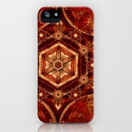 Meditation in Copper iPhone Case