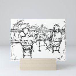 B & G, Happy Anniversary (A Continuous Line Drawing) Mini Art Print