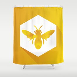 Polygon Bee Shower Curtain