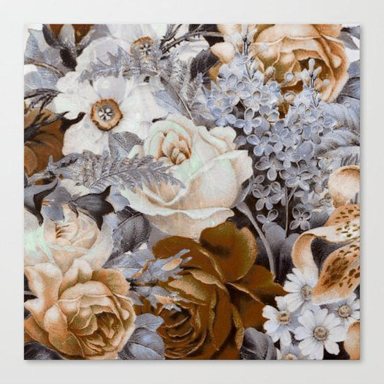wintery floral Canvas Print