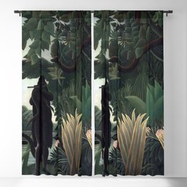Henri Rousseau The Snake Charmer Blackout Curtain