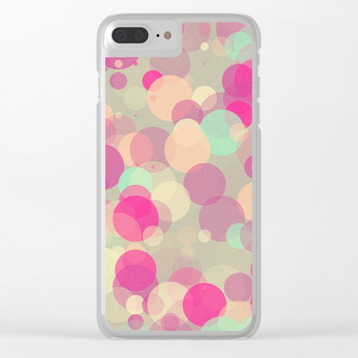 Colorful Bubbles 2 Clear iPhone Case