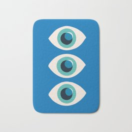 Watching You-Blue Bath Mat