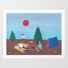 A nice day for camping Art Print
