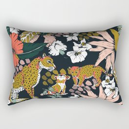 Animal print dark jungle Rectangular Pillow