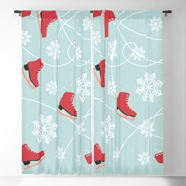 Winter Ice Skating Blackout Curtain