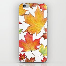 Autumn Maple Leaves iPhone Skin