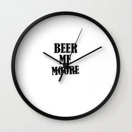 Beer me More Wall Clock