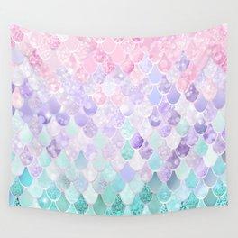 Mermaid Pastel Iridescent Wall Tapestry