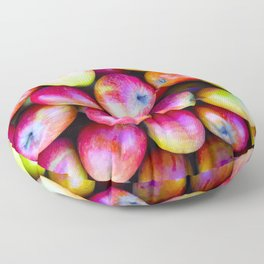 Juicy Apples - Vectorized Photographic Image Floor Pillow