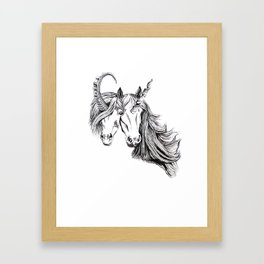 Conjoined Unicorns Framed Art Print