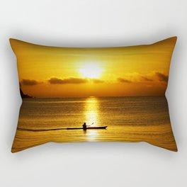 San Francisco Bay Kayak Rectangular Pillow