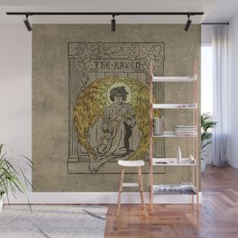 The Raven. 1884 edition cover Wall Mural