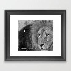 Beast asleep Framed Art Print