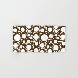 Brown Geometric Abstract Modern Circle Art Hand & Bath Towel