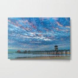 Big Sky Over Huntington Pier Metal Print