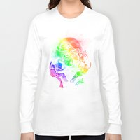 disco Long Sleeve T-shirts featuring Space Disco by Jonah Makes Artstuff