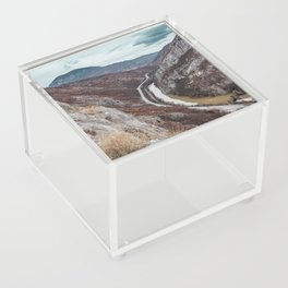 Beautiful photo of the canyon in Serbia, with river and the highway in the middle Acrylic Box