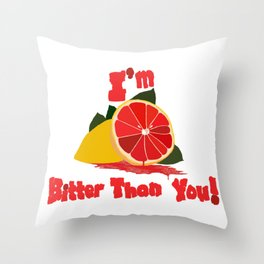 Bitter Grapefruit Throw Pillow
